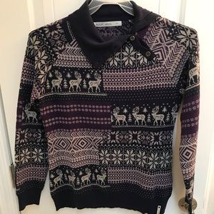 Ladies Woolrich reindeer print sweater
